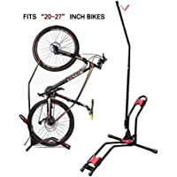 Japusoon Upright Bike Storage Stand with Adjustable Bicycle Carrier