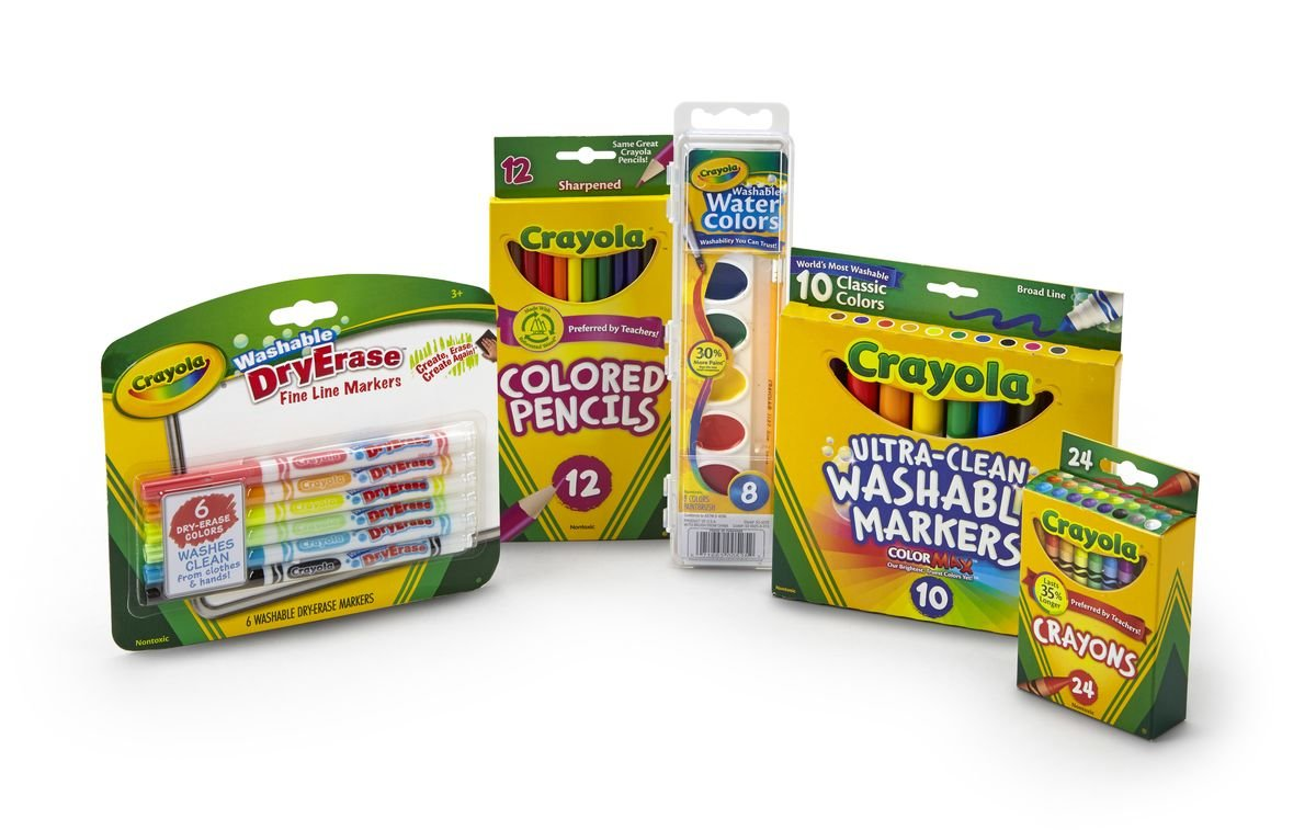 Crayola Back to School Pack, Contains 5 Items in Pack, Assorted Count Packs Binney & Smith 04-6875