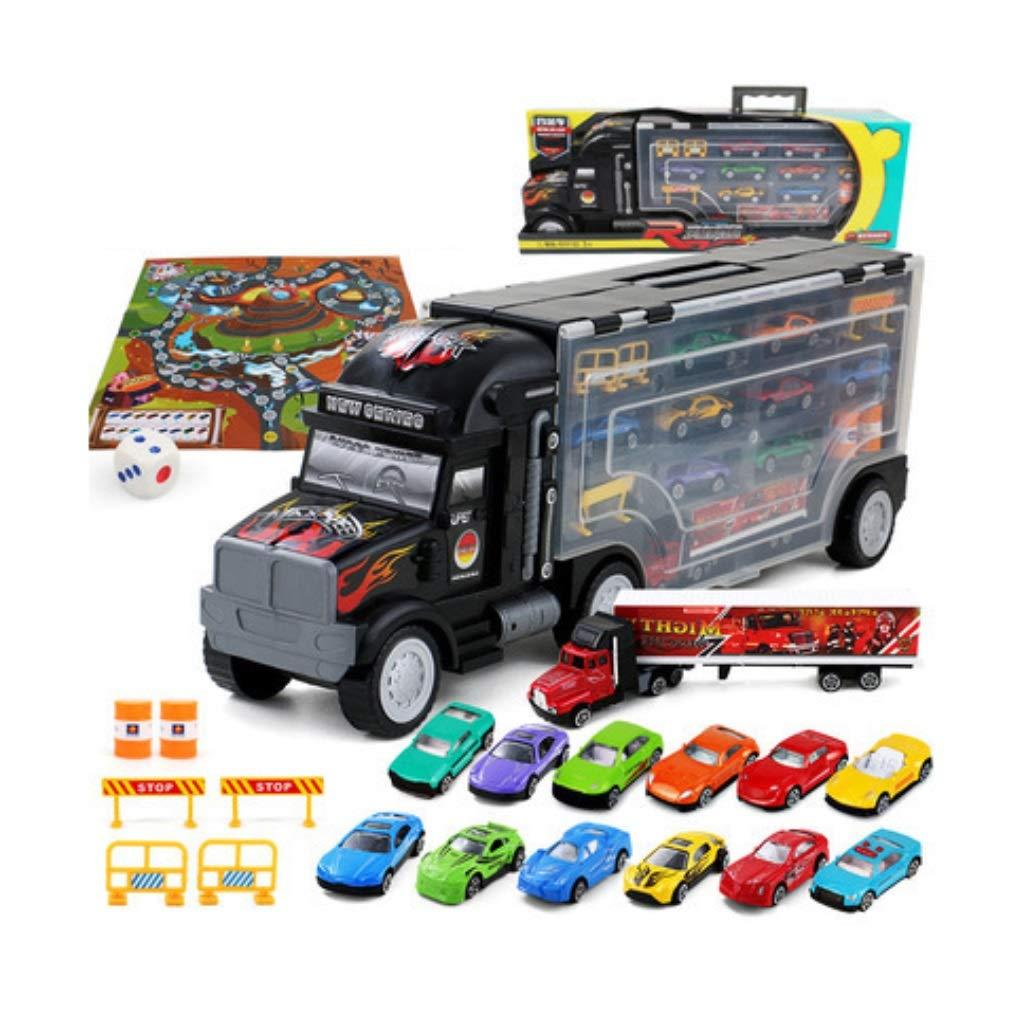 1 Yingjianjun Großer LKW Spielzeug Modell - Legierung Spielzeugauto Aufbewahrungsbox - Große Container Truck Transport Junge Junge Kind (Style   1 )