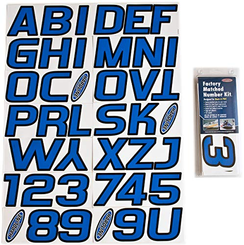 (Hardline Products BLBLK700 Blue/Black Factory Matched Registration Number Kit)