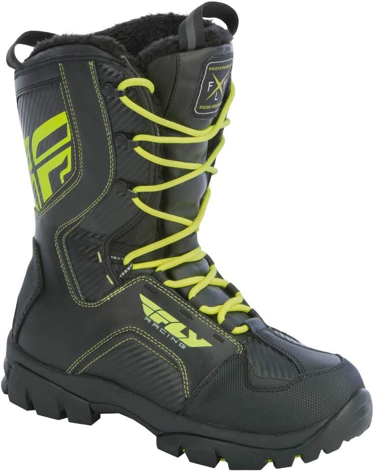 11 Fly Racing Snowmobile Marker Boots White