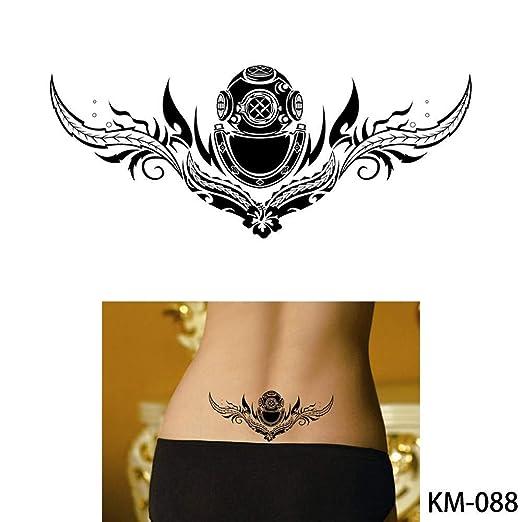 adgkitb 3pcs Bosquejo Tatuaje Impermeable corazón cráneo ...