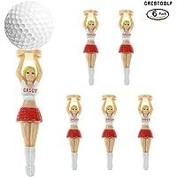 crestgolf Blond Caddy Golf, animadora Tees de golf