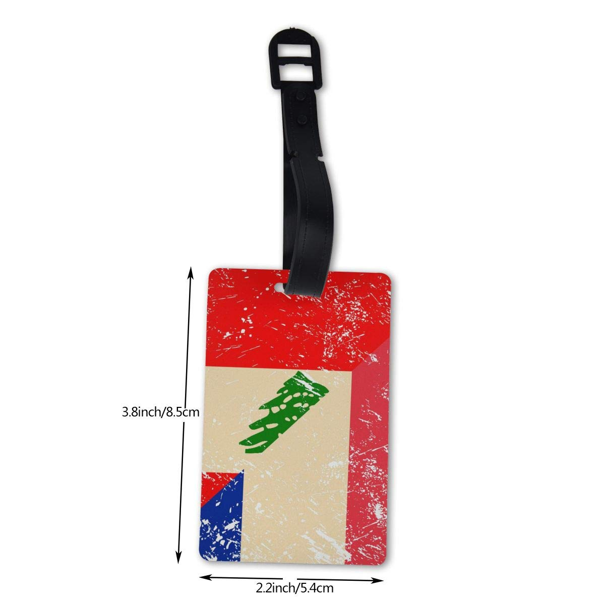 NB UUD France and Lebanese Retro Flag Travel Luggage Tag Fashionable Employees Card Luggage Tag Holders Travel ID Identification Labels for Baggage Suitcases Bags