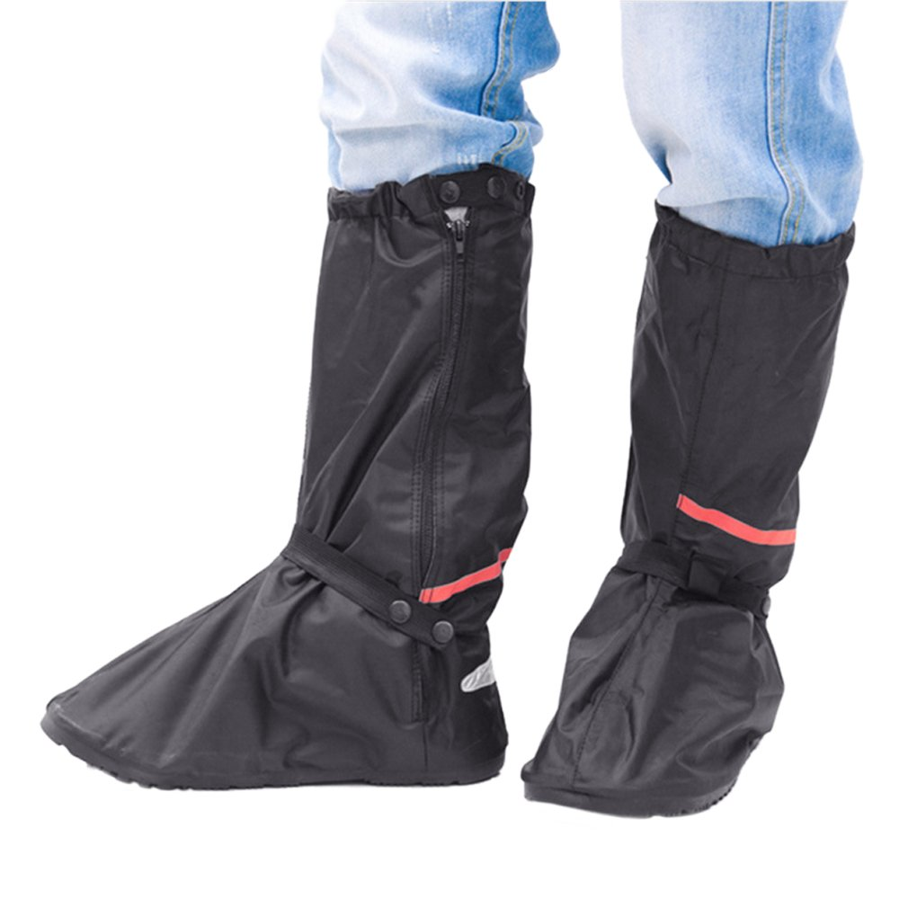 Shoe Covers,Women Men Non-slip Waterproof Zipper Rain Snow Shoes Boots Covers Reusable for Outdoor Camping Fishing Cycling Riding Bike Motorcycle Rain Suit Shoe Cover Protective Gear Travel Overshoes by Holiberty (Image #1)