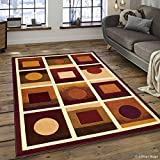 Allstar 5 X 7 Violet with Beige Modern Geometric Design Area Rug (5′ 2″ X 7′ 2″) Review