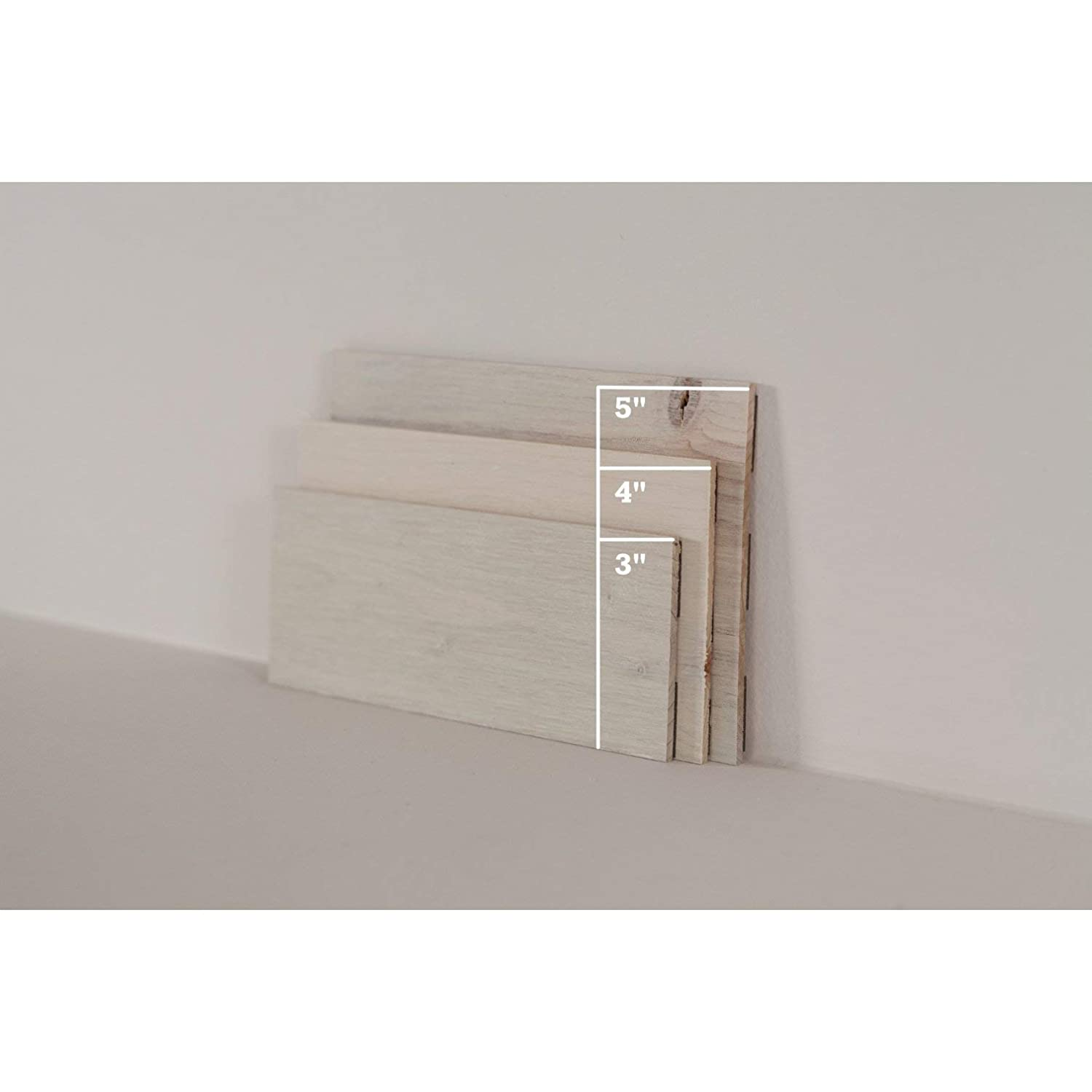 Simple Peel and Stick Application. Timberchic DIY Reclaimed Wooden Wall Planks 3 Wide - 40 Sq. Ft, River Planks