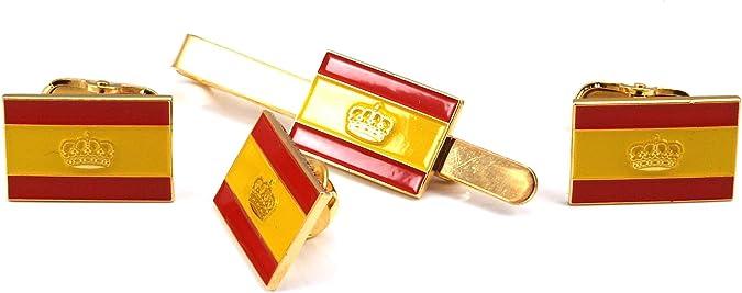 Gemelos de Camisa Pin y Pasador de Corbata Bandera de España ...