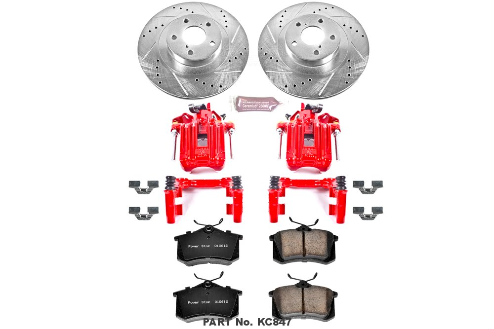 Power Stop KC847 1-Click Performance Brake Kit with Caliper Rear Only