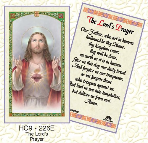[The Lord's Prayer*Sacred Heart of Jesus. Laminated 2-Sided Holy Card (3 Cards per Order)] (Sacred Heart Of Jesus Prayer)