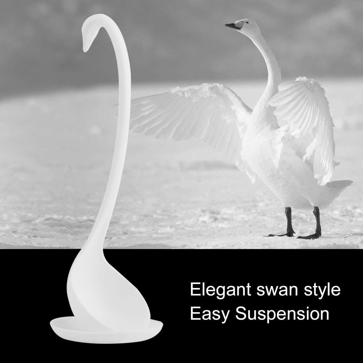 /À la mode Swan Louche Unique En Forme De Cygne PP Louche Sp/écial Cygne Cuill/ère Utile Cuisine Cuisson Outil En plastique Louche