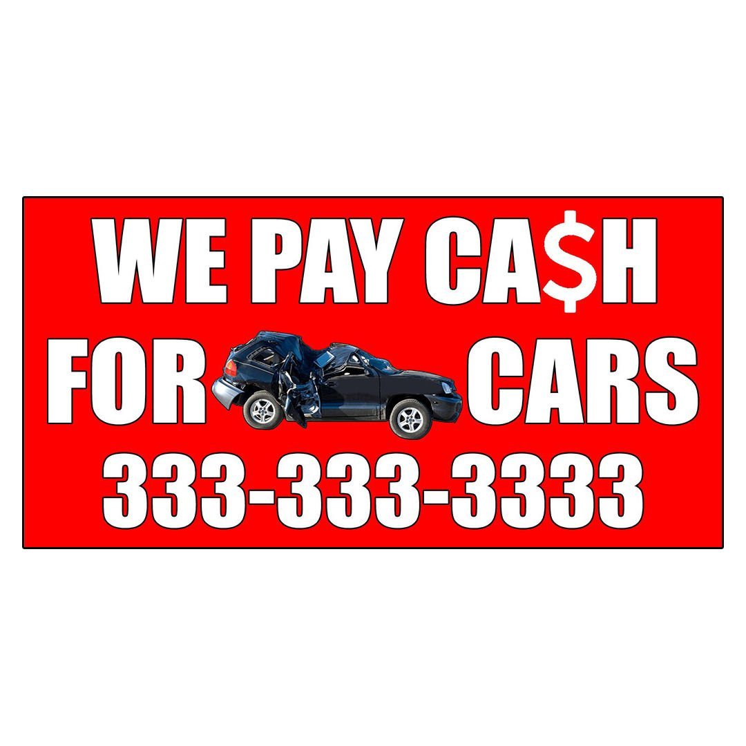 Amazon.com : We Pay Cash For Junk Cars With Image Style 2 DECAL ...