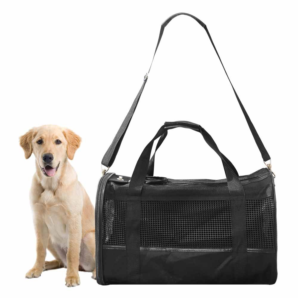 AGOOL Pet Carrier Luxury Large Soft Sided Foldable Pet Travel Tote with Removable Airline Approved Fleece Bedding for for Puppies, Cats and Pets - 19x11x12 inch by AGOOL (Image #2)