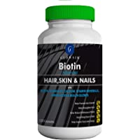 GLOWSIK BIOTIN MAXIMUM STRENGTH 10000 mcg (120- CAPSULES) with AMINO ACIDS & CALCIUM FOR HAIR, NAILS AND SKIN