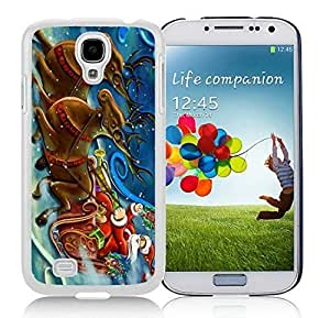 2014 Newest Samsung S4 TPU Protective Skin Cover Santa Claus and Deer White Samsung Galaxy S4 i9500 Case 1 hjbrhga1544