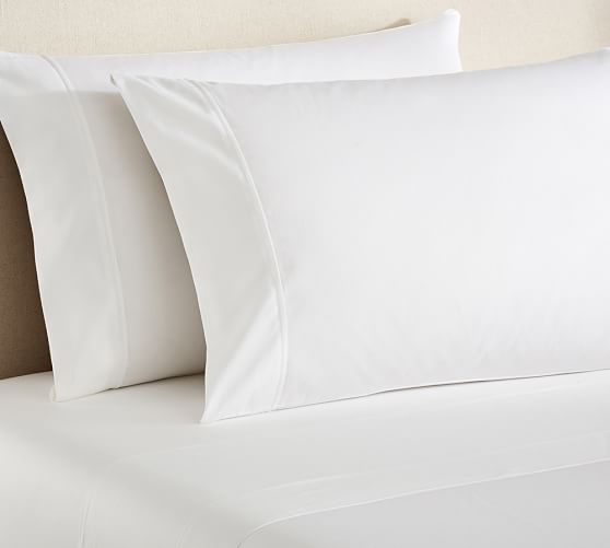 PB Essential 300-Thread-Coun​t Sheet Set | Pottery Barn