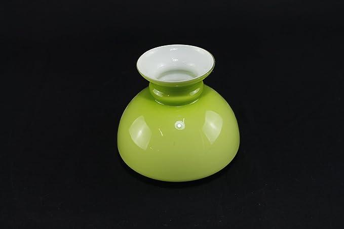 Lampade Ad Olio Per Esterni : Paralume vetro campana verde ricambio per lume lanterna a petrolio