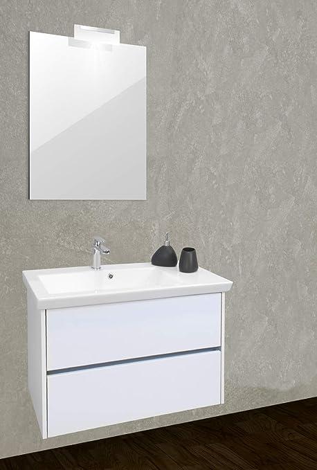 Specchio Bagno Con Faretti.Aquasanit Picasso Mobile Bagno Con Lavabo E Specchio Con Faretto