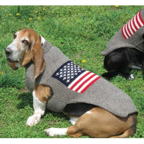 Chilly Dog American Flag Dog Sweater, My Pet Supplies