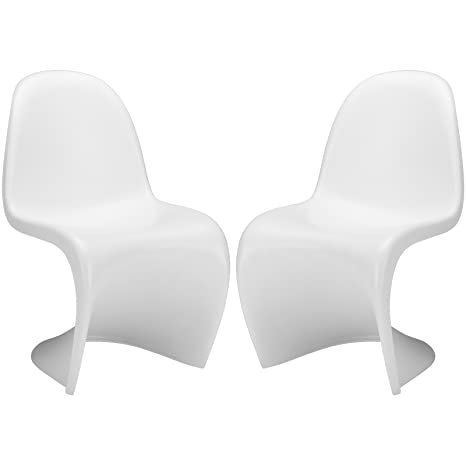 Amazon.com: Poly y corteza Panton style S silla: Kitchen ...