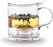 VAHDAM, Imperial Tea Maker, 16 oz, Bottom Dispensing Tea Pot | 100% SAFE - FDA APPROVED - BPA FREE TRITAN | Drain-Tap Technology, All-in-one Tea Kit | Best Tea Pot with Infusers for Loose Tea