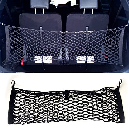 Zone Tech Large Pocket Mesh Storage Net - Black Mesh Large Pocket Trunk Cargo Organizer with 2 Mounting Options (Tailgate Cargo Net compare prices)