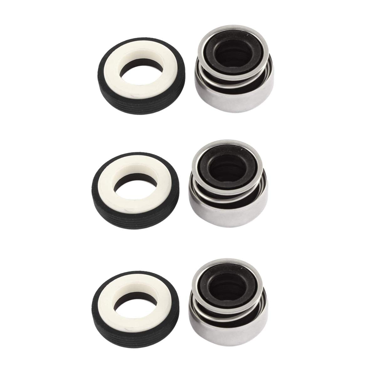 3Pcs 3Pcs Automotive Cooling Pump and Similar Mechanical Rotary Axis 12mm//0.5 Internal Dia XMHF Single Coil Spring Mechanical Seal,Suitable to Water Pump,Automotive Cooling Pump and Similar Mechanical Rotary Axis 12mm//0.5 Internal Dia