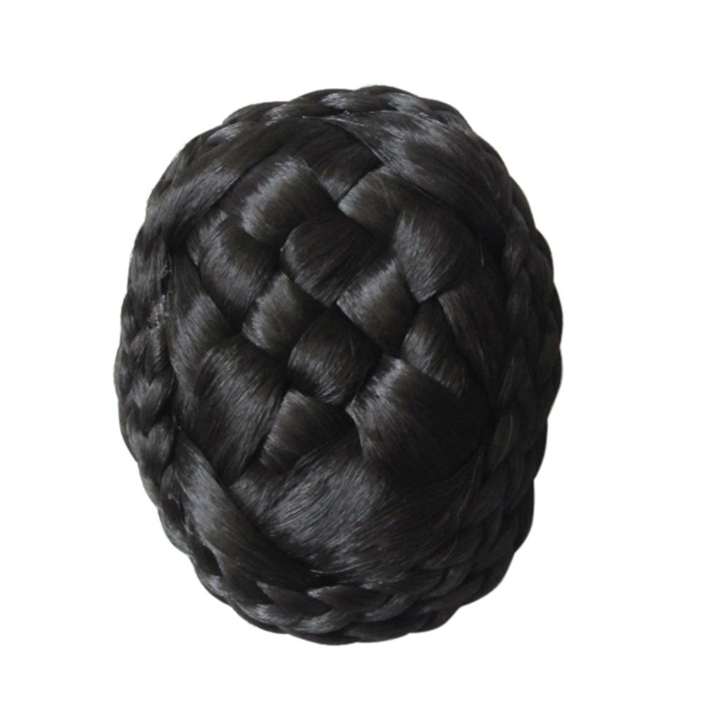 Remeehi trenzado Accesorios para el pelo peluca Negro Hairpin Clip sólido Plait Tiaras Pelo Moño Diadema Mujeres