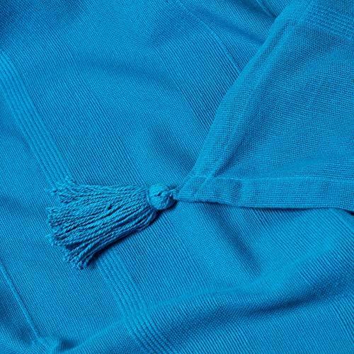 HOMESCAPES Jet/é de lit ou Jet/é de canap/é Turquoise 150x200cm Collection Rajput 100/% Coton