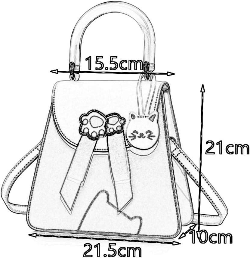 Color : Pink DDSS Shoulder Bags Small Fresh Hand-Slung Shoulder-Shoulder Cute Girl Casual one-Shoulder hit Color Square Bag PU//Polyester Cotton