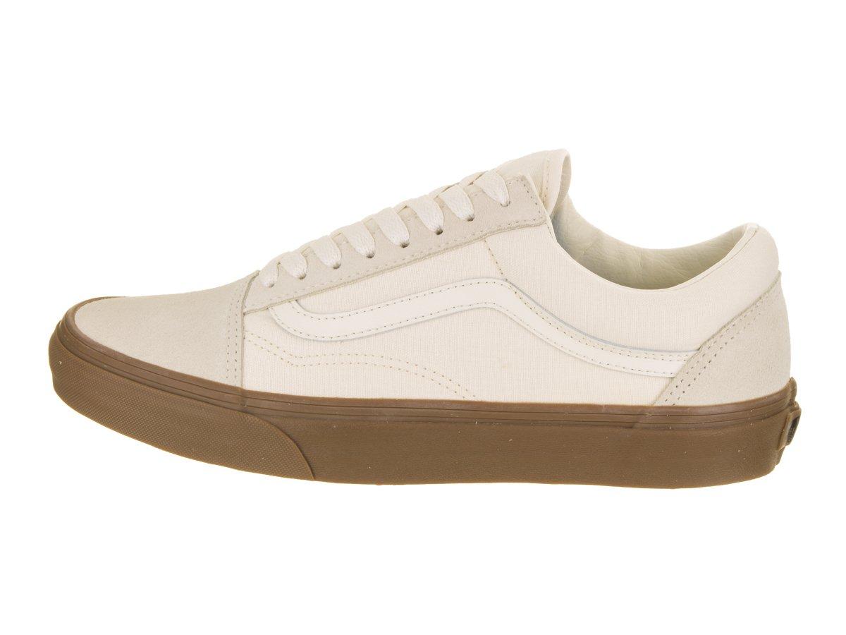 Vans Unisex Old Skool Classic Skate Shoes B06Y2LHKLF 12 M US Women / 10.5 M US Men White/Gum