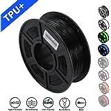 SUNLU 1.75mm Flexible TPU 3D Printing Filament, Dimensional Accuracy +/- 0.02 mm, 1KG Spool, 1.75 mm, Black