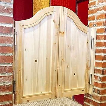 GuoWei Pastoral Puerta de Vaivén Madera de Pino para Café Bar Cocina Jardín Patio Ingreso Utilizar, Personalizable (Color : A, Size : 110cmx90cm): Amazon.es: Bricolaje y herramientas