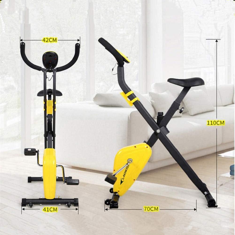 FANGX Portátil Bicicleta Estática de Interior,Plegable Bicicleta ...