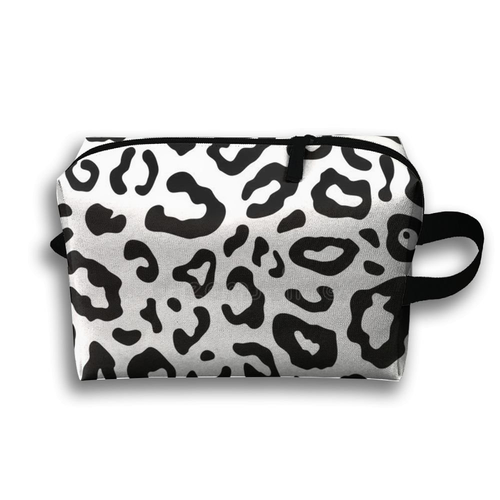 DTW1GjuY Lightweight And Waterproof Multifunction Storage Luggage Bag Leopard Patterns
