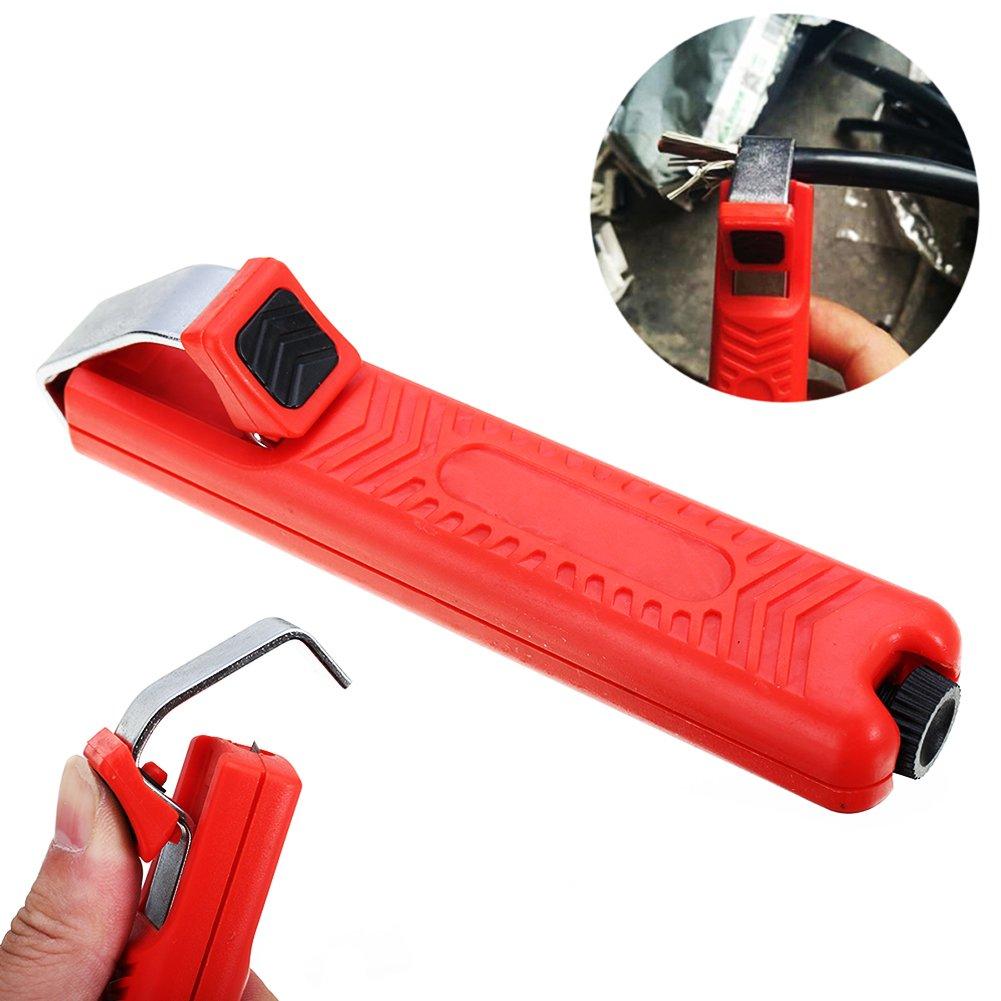 Pince /à d/énuder ajustable 8-28 mm pour c/âble en caoutchouc rond PVC