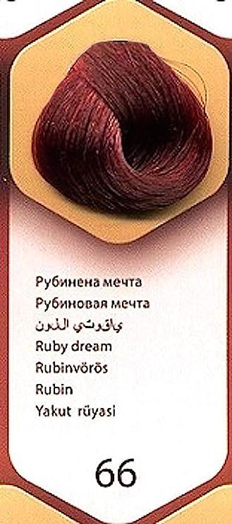 Color time, tinte permanente para el cabello de color sueño rubí 66