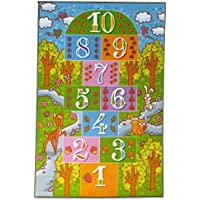Kev and Cooper LLC KC Cubs Playtime Collection Childrens Hopscotch Educational Area Rug - 33 x 47