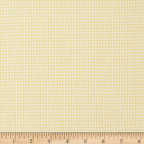 Marcus Brothers Aunt Grace Backgrounds Mini Check Fabric, Yellow, Fabric By The Yard