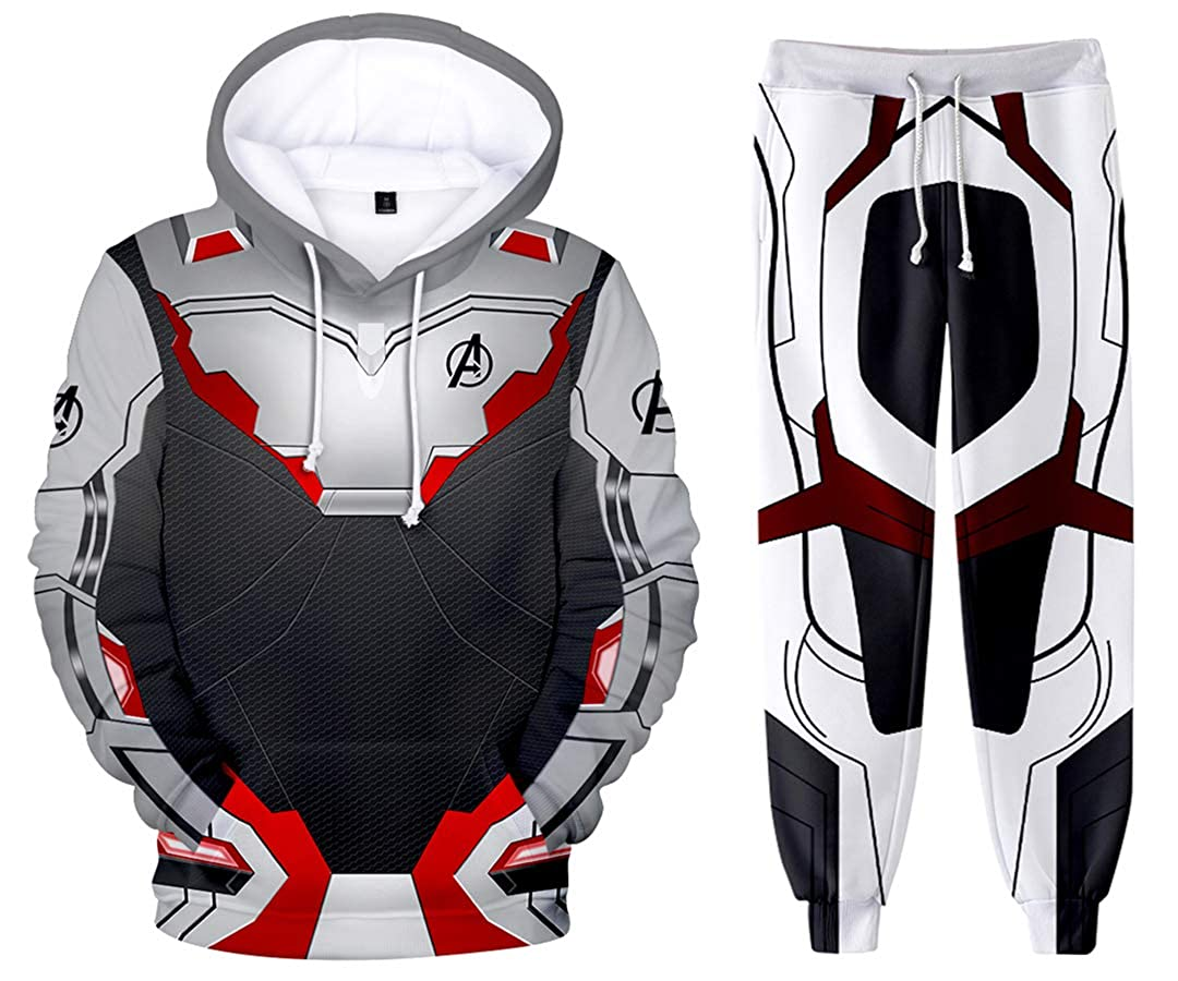 Silber Basic Unisex 3D Druck Avengers Hoodies Superheld Quantum Realm Kostüme Sweatshirt Set B07QD59K1G Film & Fernsehen Fanbekleidung Einfaches Leben