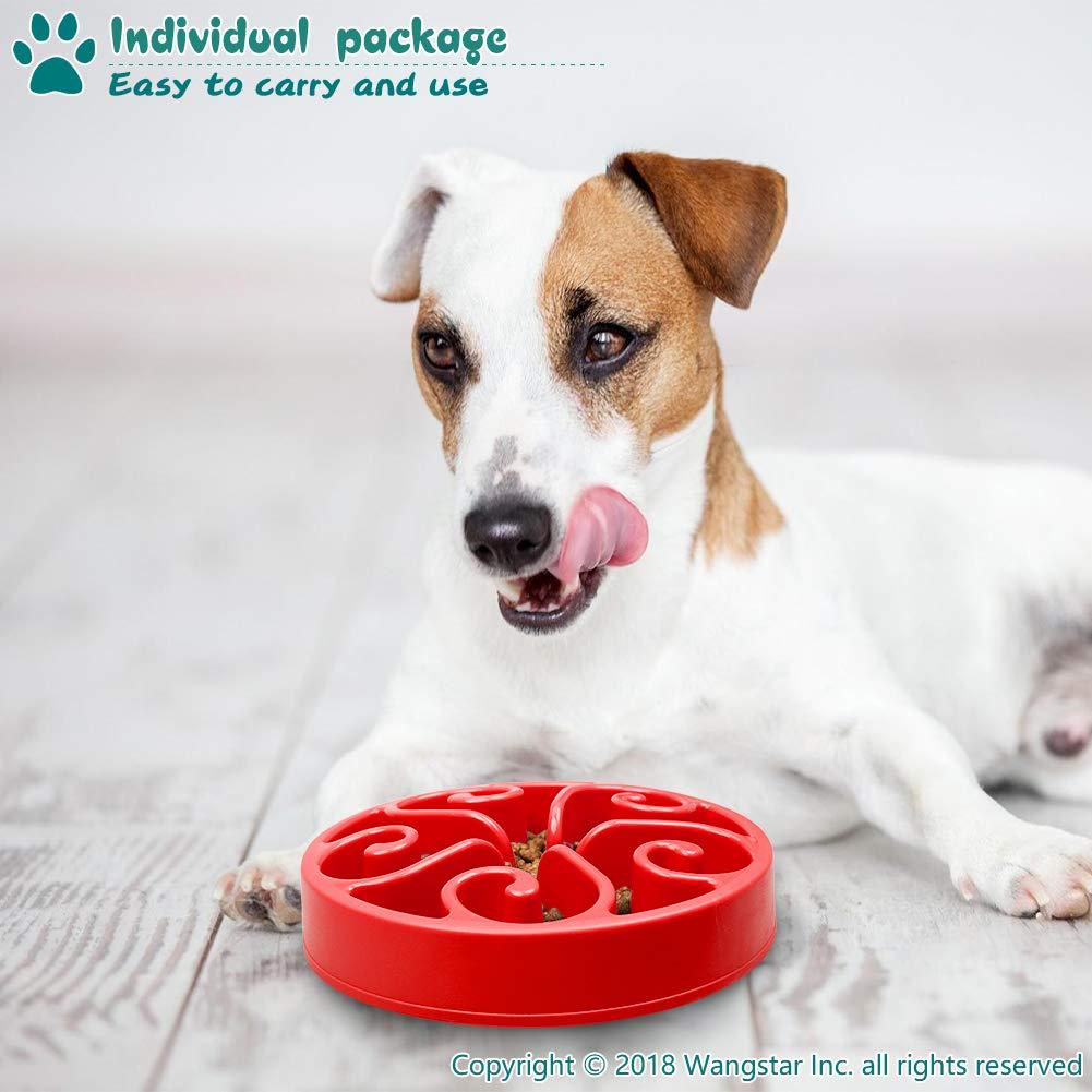 wangstar Pet Slow Feeder Bowl Interactive Fun Feeder Slow Bowl with Anti-Skid Design Bloat Stop Dog Puzzle Bowl Maze