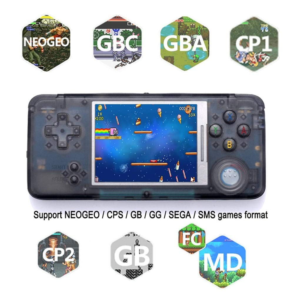 FLYFISH Handheld Game Console , Retro Game Console 16GB 3000 Classic Game Console , 3 Inch HD Screen TV Output Portable Video Game Console , Birthday Gift for Children - Transparent Black by FLYFISH (Image #7)