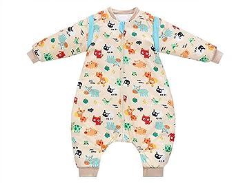 QWhing Suave y Acogedor Saco de Dormir Animal Print Bebé Recién Nacido Footed Anti-Kick Quilt Baby Sleepsacks para 0-24 Meses Saco de Dormir del bebé: ...