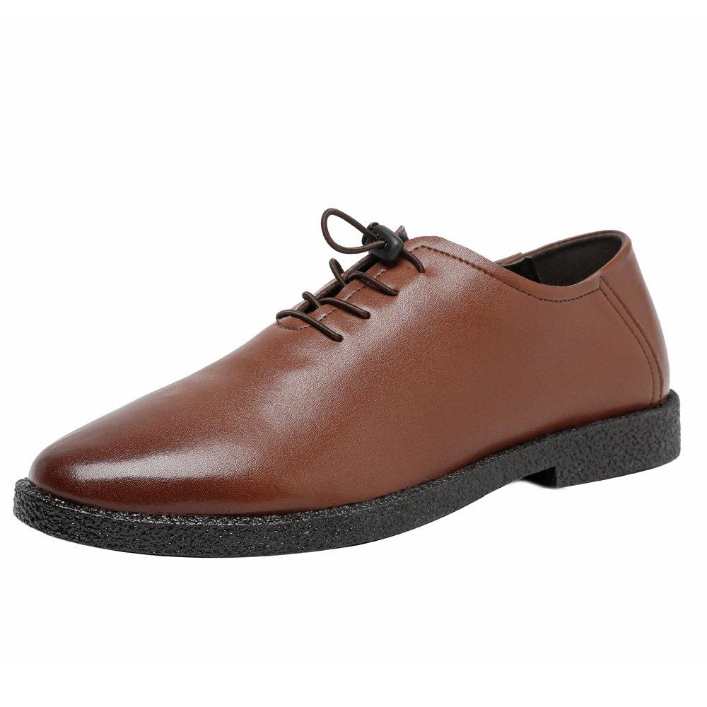 Bangxiu Chaussures en pour Cuir pour en Hommes Chaussures Basses en Cuir véritable Mocassins Mat Richelieus doublées Respirantes (Color : Marron, Taille : 42 EU) 42 EU|Marron c3f911