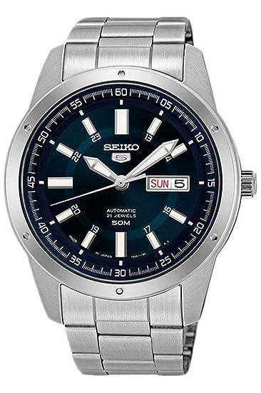 Reloj Seiko 5 Gent SNKN67K1 - Analógico Automático para Hombre en Acero Inoxidable: Amazon.es: Relojes
