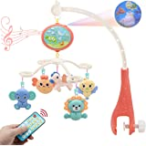 MARUMINE Baby Musical Crib Mobile with Night Light and Music, Timing Function, Projection, Rotation, Rattles, Take-Alone Musi