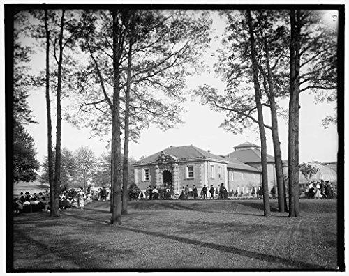 Vintography 40 x 30 Ready to Hang Canvas Wrap Aquarium Belle Isle Park Detroit Mich 1905 Detriot Publishing 43a by Vintography (Image #1)