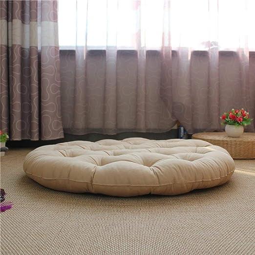 LingGT Cojín Redondo para Silla de Oficina o futón, 45 x 45 ...