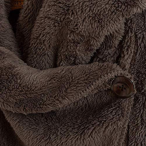 Invernale Tasche Unita Parka Con Unique Allentato Stlie Tinta Cerniera Donna Felpe Coffeea Sided Double Grande Bobo Outwear Cardigan 88 Pieno Colore Cappotto pqwRn7X