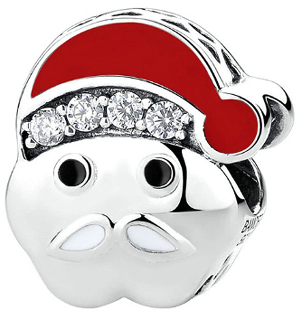 925 Sterling Silver Santa Claus Charm Beads Chariot Trading